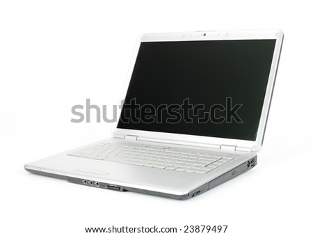 Computer laptop - isolated on the white background - stock photo