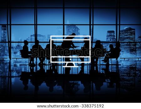 Computer Laptop Technology Digital Device Concept - stock photo