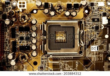 Computer mainboard - stock photo