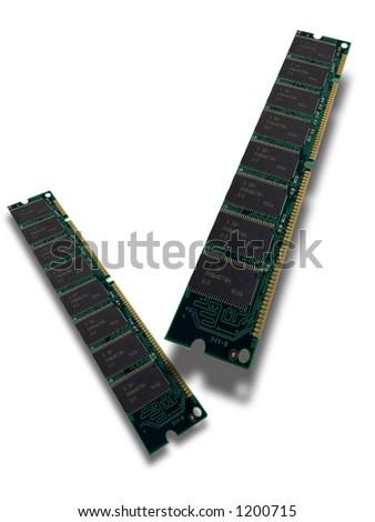 Computer memory - SDRAM macro - very high resolution - stock photo