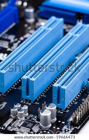 Computer memory slot - stock photo