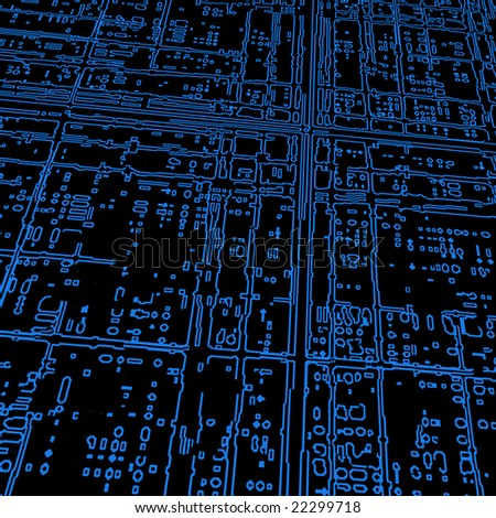 Computer microcircuit as a technology concept or background - stock photo