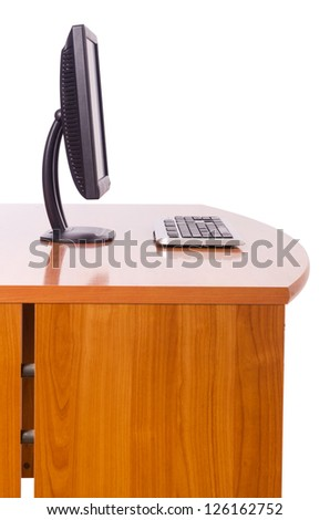 Computer monitor isolated on the white