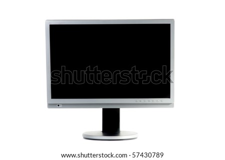 Computer monitor. Isolated on white. - stock photo