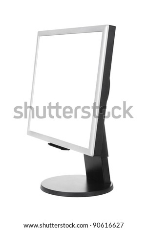 Computer monitor - isolated on white background