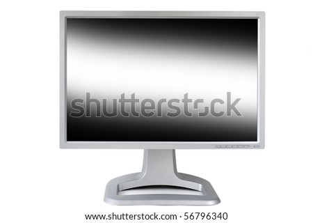 Computer monitor studio isolated on white background