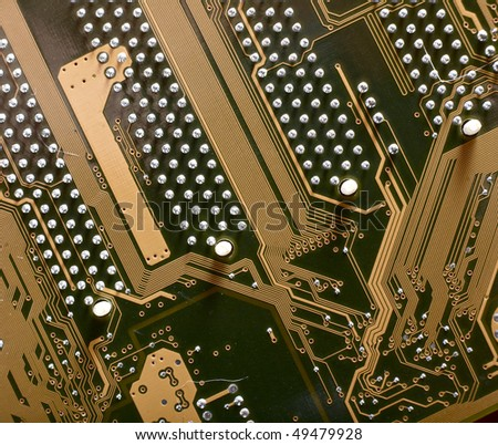 Computer motherboard circuit - stock photo