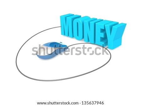 Computer mouse and money - stock photo
