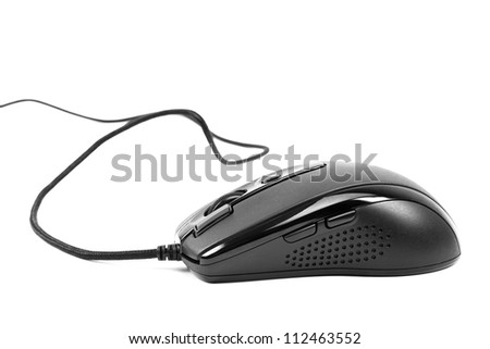 computer mouse isolated on white background - stock photo