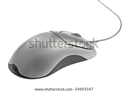 computer mouse,isolated on white with clipping path. - stock photo