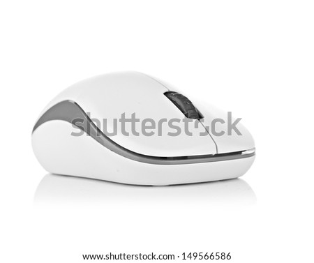 Computer mouse on a white background - stock photo