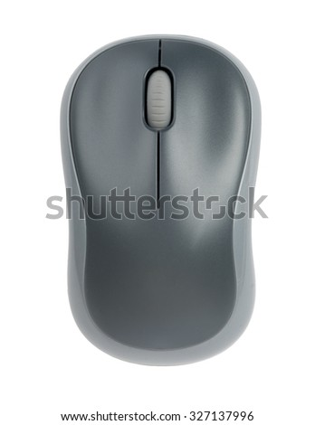 Computer mouse on isolated white background, close up view - stock photo
