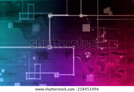 Computer Network and Internet Communication As a Concept - stock photo
