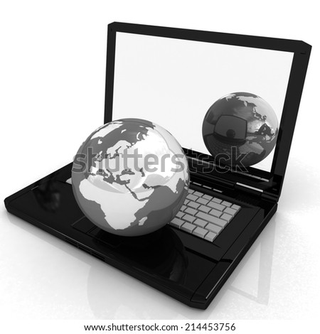 Computer Network Online concept on a white background