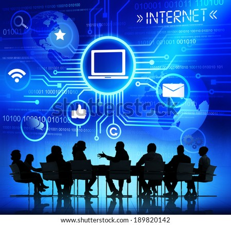 Computer Networking - stock photo