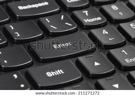 Computer notebook keyboard - technology background