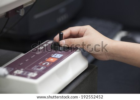 Computer Numerical Control (NC) machine  - stock photo