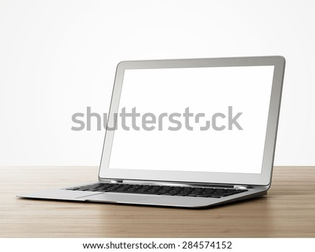 Computer on table - stock photo