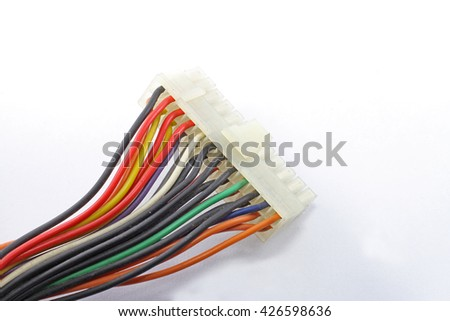 Computer plug with colorful wire