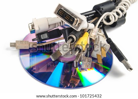 Computer plugs and DVD