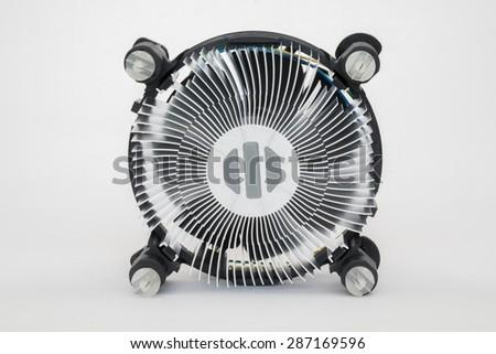 Computer processor cooling fan heatsink - stock photo