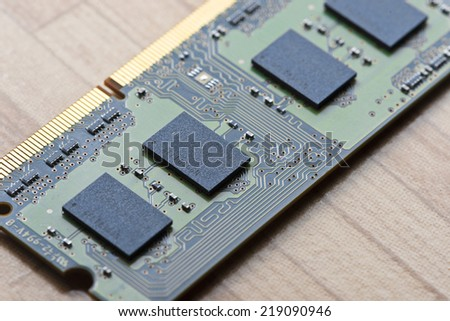 computer RAM memory - stock photo