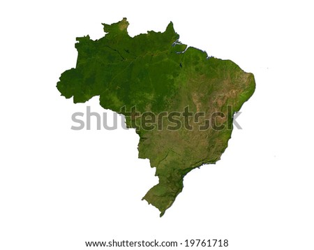 Computer Render Of Brazil On White Background
