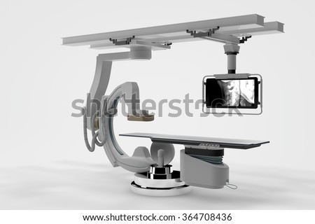 Computer rendered illustration one X-Ray Machine