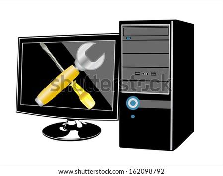 Computer repair - stock photo