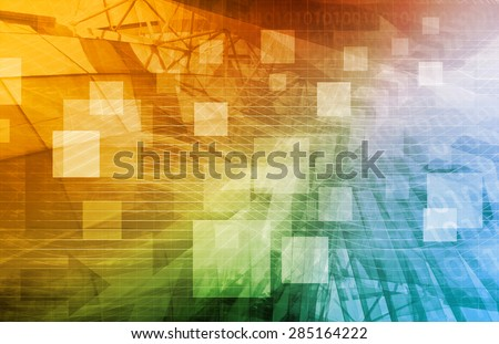 Computer Science as a Abstract Background Art - stock photo