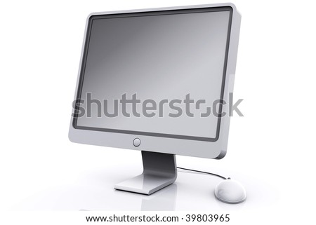 Computer Screen and mouse