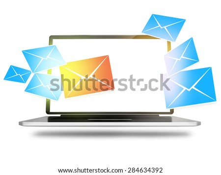 Computer Screen Graphic - stock photo