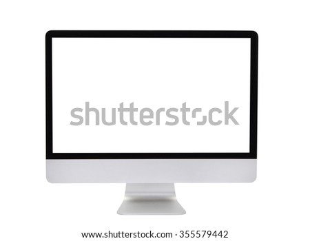 Computer screen isolated on a white background - stock photo