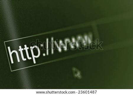 Computer screen macro.Shallow depth of field - stock photo