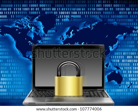 computer security - stock photo