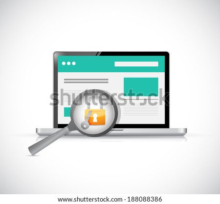 computer security check concept illustration design over a white background - stock photo