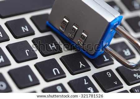 Computer Security Concept - stock photo