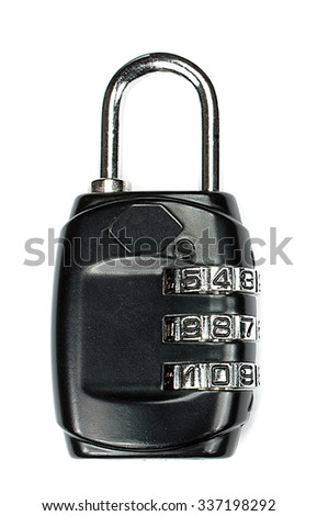 Computer security - Privacy lock  - stock photo