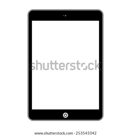 Computer tablet.  Illustration Similar To iPad. - stock photo