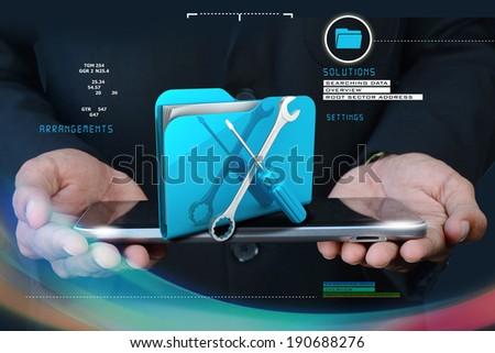 Computer technical service concept - stock photo