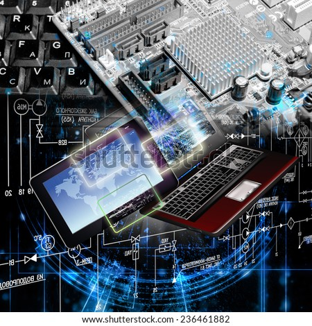 Computer technology - stock photo