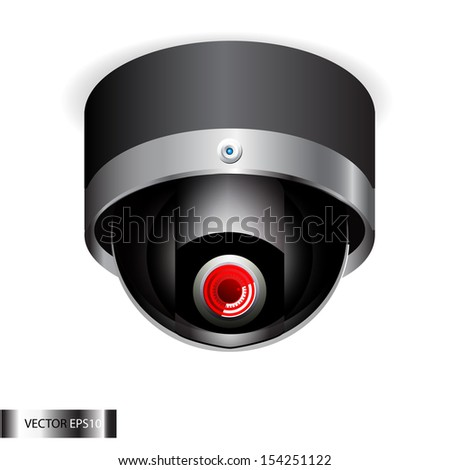 Computer Web Camera. Internet video conference - stock photo