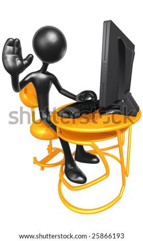 Computer Workstation - stock photo