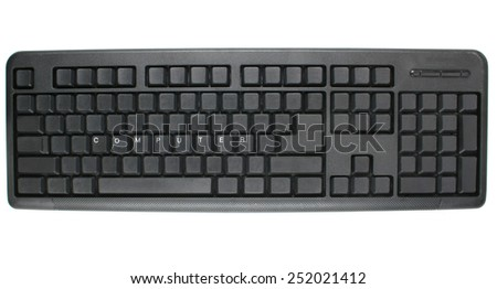 Computer -written on keyboard - stock photo