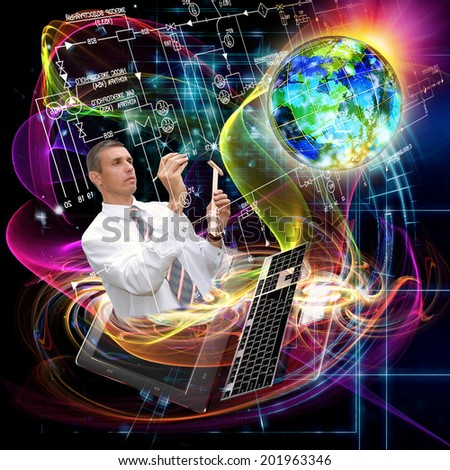 Computers Engineering Technology.Connection - stock photo