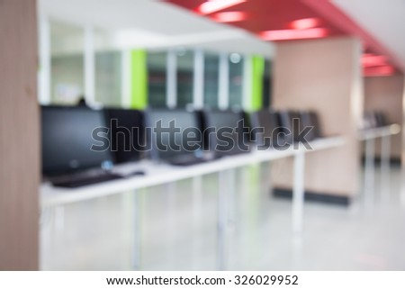 Computers for customer in the room. - stock photo