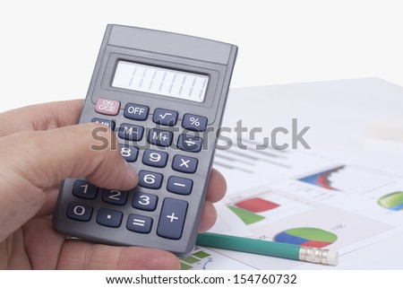 computing on the calculator in the office