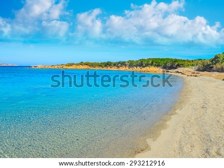 Conca Verde beach on a clear summer day, Sardinia - stock photo