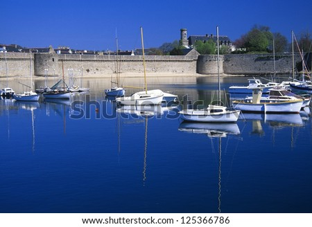 concarneau harbour in brittany france