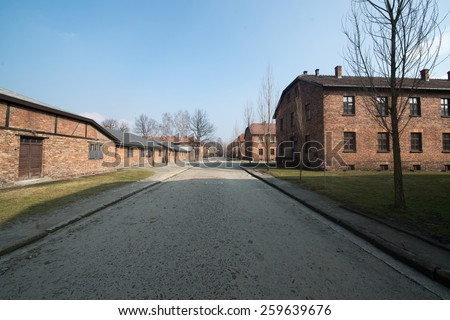 Concentration camp Auschwitz II a former Nazi extermination camp in Oswiecim. Auschwitz II was the biggest nazi concentration camp in Europe.
